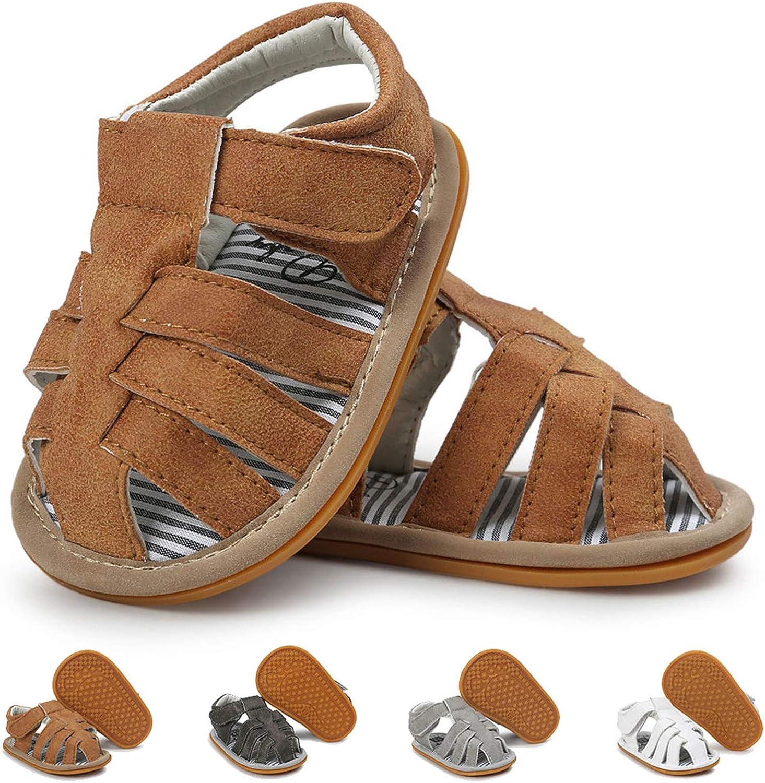   Baby Boys Girls Sandals Anti-Slip Rubber Sole First Walker Prewalker Summer Shoes Infant Sandals for Toddler Girls   Sandals