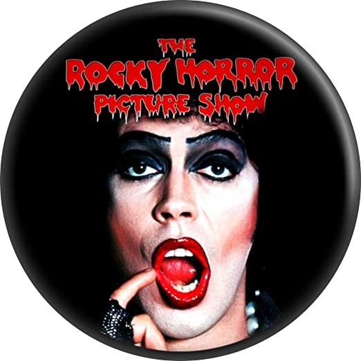 The Rocky Horror Picture Show Frank N Furter With Logo 125 Round Button