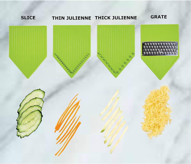 Bonus gift: cut resistant gloves Grate /& Shred your favorite Veggies Julienne professionally Slice KAY PRIDE Best Adjustable Mandoline Slicer