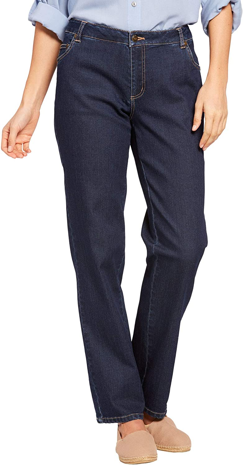Woman Within Womens Plus Size Tall Straight Leg Stretch Jean
