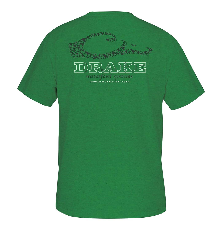 c901af35 Amazon.com: Drake Men's Logo Short Sleeve T-Shirt, Kelly Heather ...