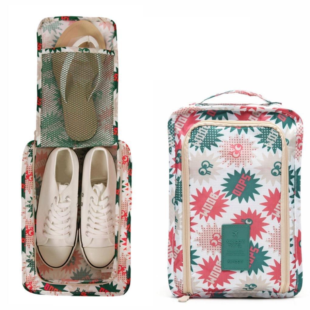 旅行靴バッグ、Transerメンズ&レディース防水靴ストレージオーガナイザーwith Zipperのワークアウト、Dancing、ジム  A B075XLHTLK