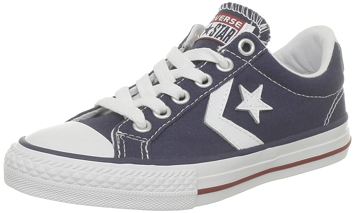 Unisex Adults Star Player Ox Almost White Trainers, Black, 7 UK Converse