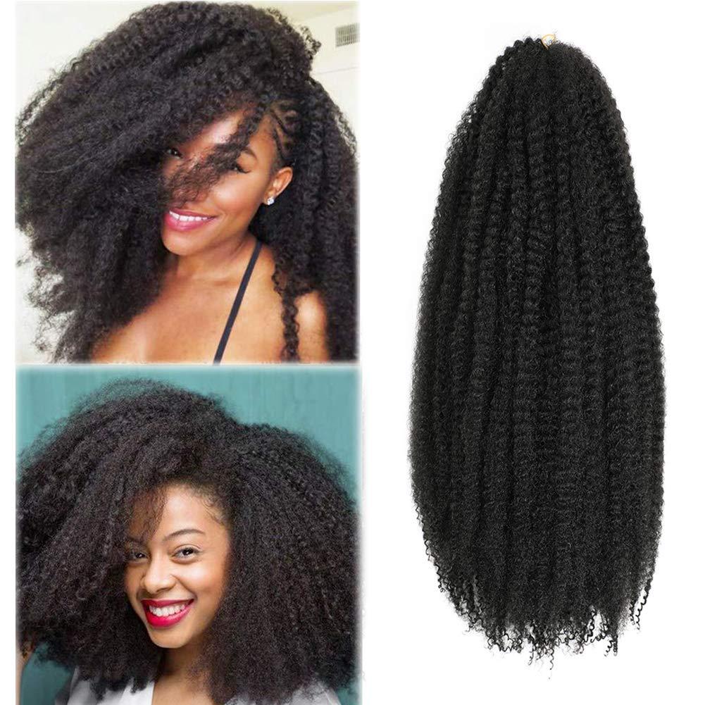 Amazon Com Marley Hair Cuabn Twist Hair 20 Inch 3 Packs Afro Kinky Twist Crochet Hair Marley Twist For Faux Locs Braiding Synthetic Hair 1b Beauty