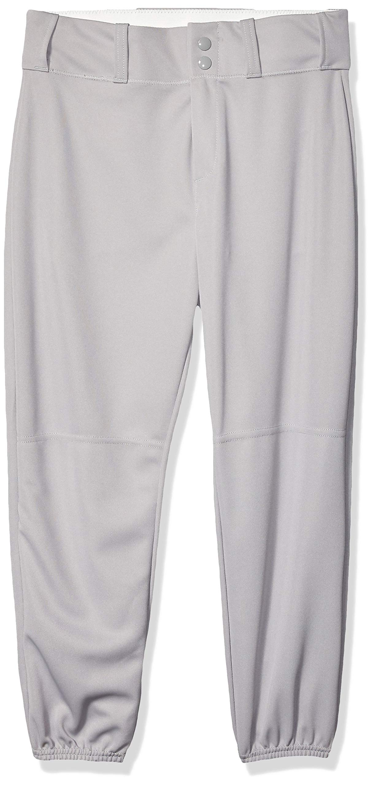 Alleson Ahtletic Boys Youth Elastic Bottom Baseball Pants, Grey, Large by Alleson Ahtletic