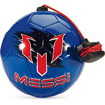 3f050d9191c Messi Soccer Ball Training Equipment Football With Adjustable Control Cord  For Practice   Drills (Blue