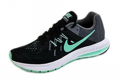b577a38cca698 Nike Zoom Winflo 2-Black Green Glow Grey White 807279-003 Size 10 ...