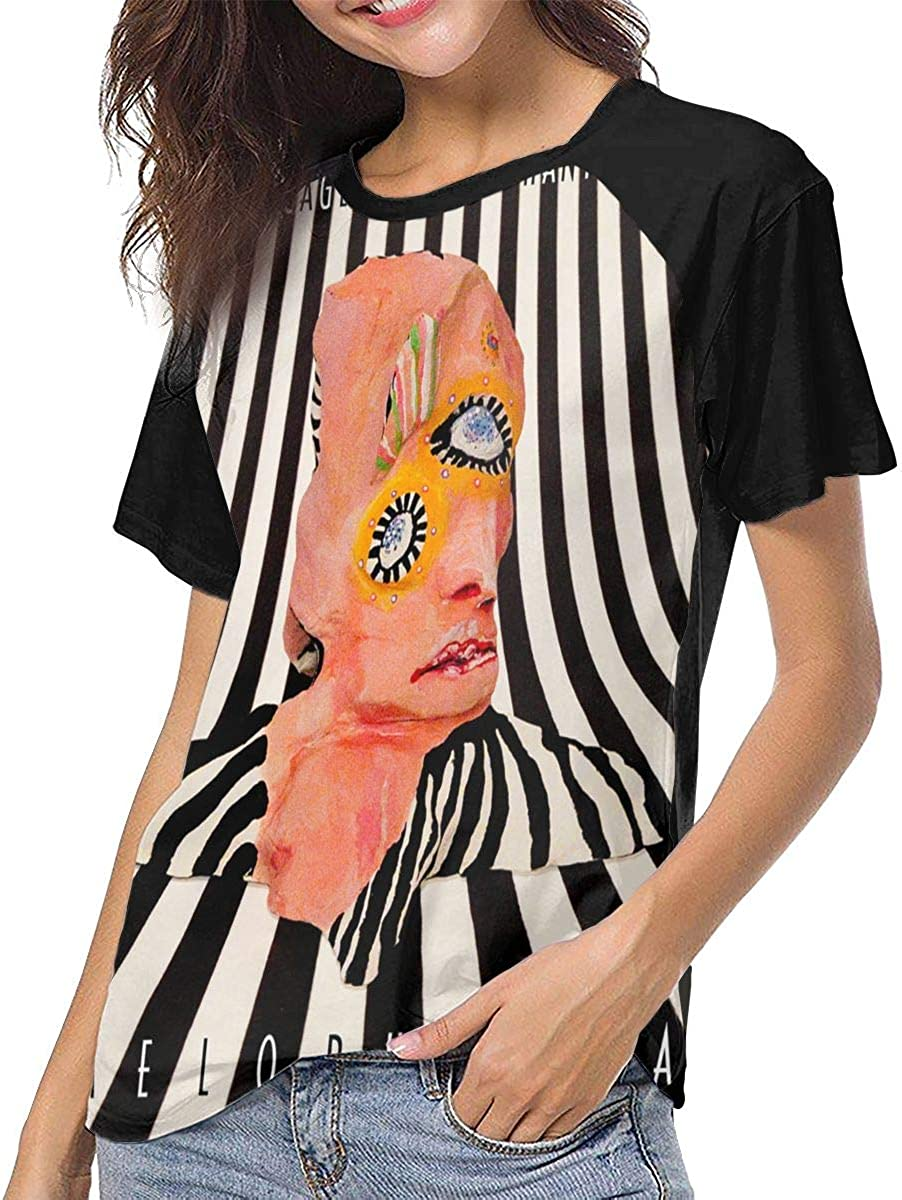 Cage The Elephant Melophobia Breathable Blouses Tops Womens Short-Sleeve Summer T-Shirts