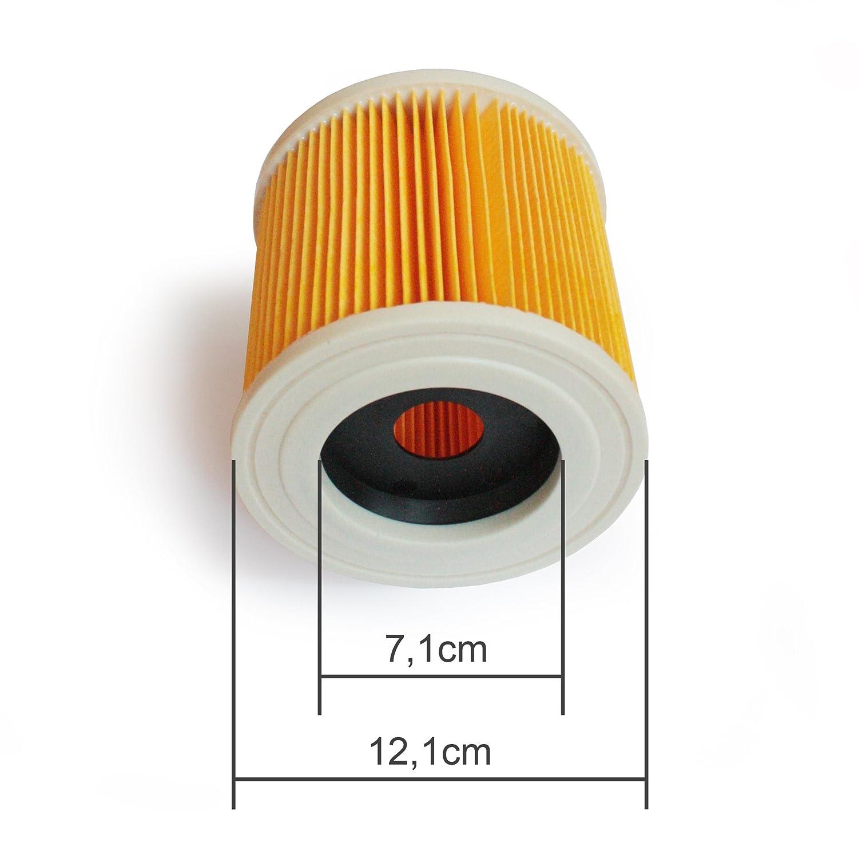 WD3.500 P WD3 WD2.200 WD3.300 M WD3.200 SE 4001 para K/ärcher Aspiradora en seco y h/úmedo WD2 MI:KA:FI Filtro de cartucho como 6.414-552.0 SE 4002