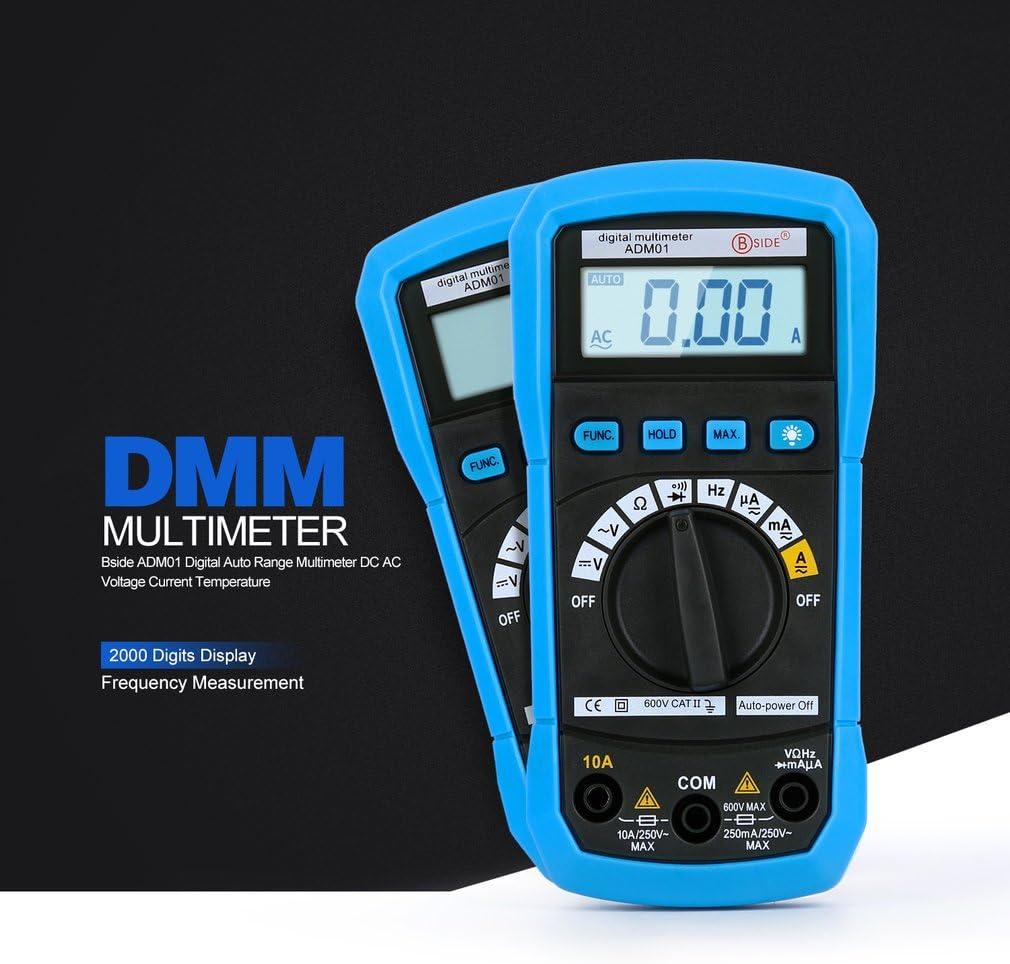 multim/ètre Auto Gamme POCKET multim/ètre AC//DC Tension courant diode transistor Audible Test de continuit/é Digital LCD multim/ètre