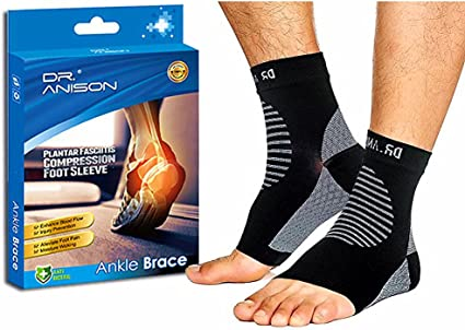 Ankle Compression Socks Ankle Sleeve for Pain Relief Plantar Fasciitis Sock Fits Left Right Feet Ankle Brace for Women /& Men Ankle Strain Adjustable Ankle Support Wrap Medium Sports Protection