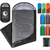 """VENTURE 4TH Backpacking Sleeping Bag €"""" Lightweight Warm & Cold Weather Sleeping Bags for Adults, Kids & Couples €"""" Ideal for Hiking, Camping & Outdoor Adventures €"""" Single, XXL and Double"""