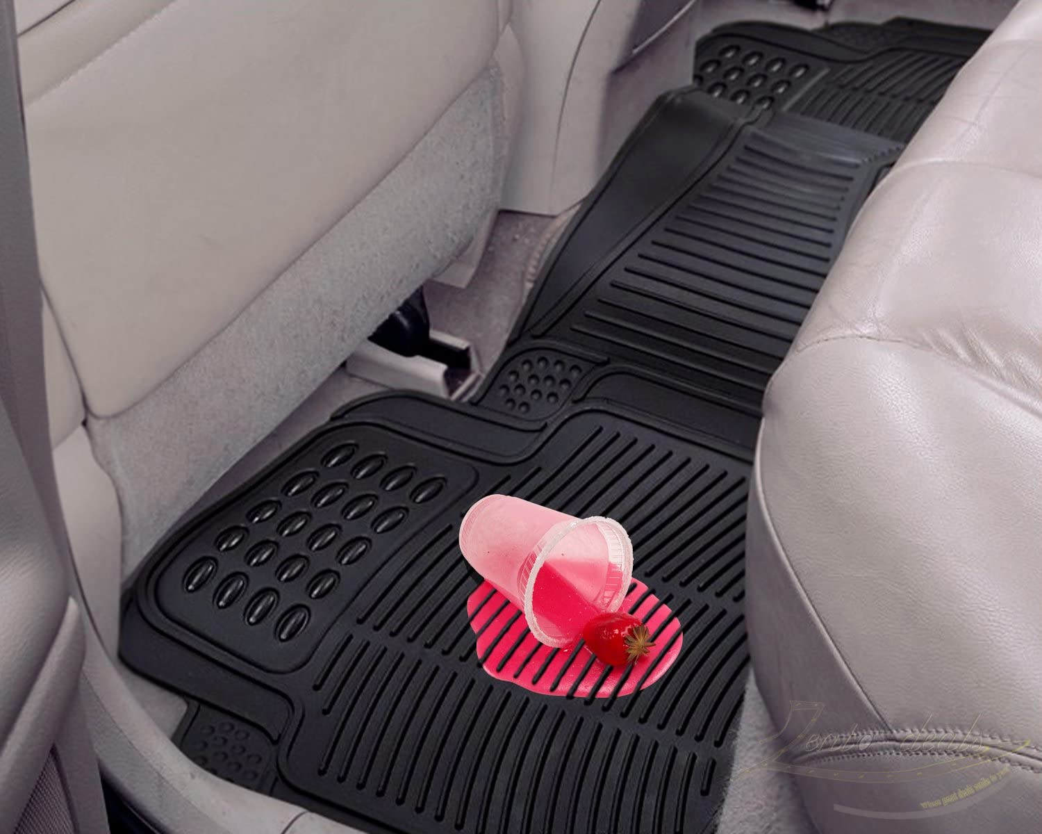 Passenger /& Rear Floor GGBAILEY D4669A-S2B-RD-IS Custom Fit Car Mats for 2004 Acura MDX Red Oriental Driver