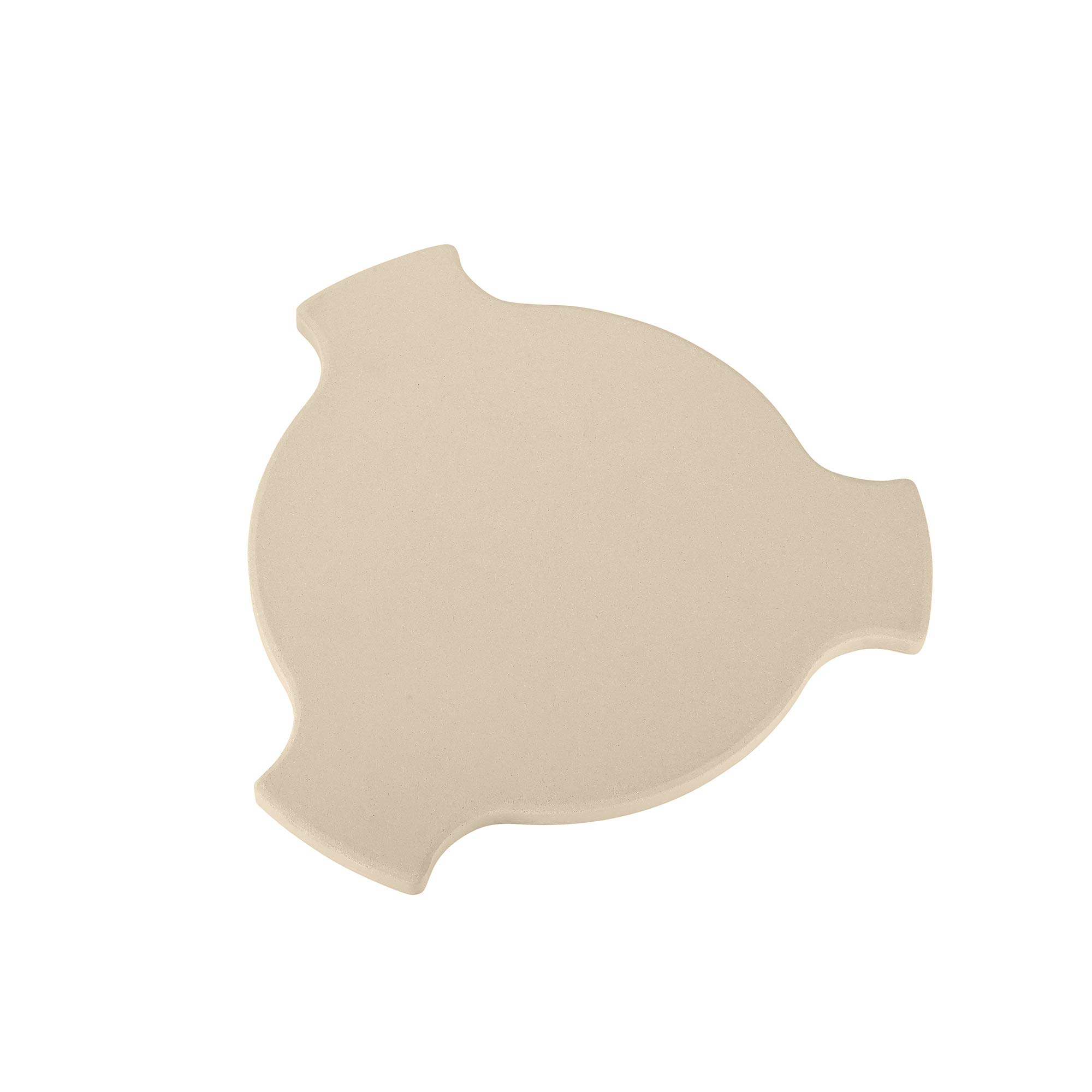 Unicook Heat Deflector Stone 17'', Heavy Duty Ceramic Pizza Stone, Heat Diffuser Plate, Smoking Stone, Compatible for Char-Griller 6201, Fits 20'' AKORN Kamado Grill, Large Big Green Egg and More by UNICOOK