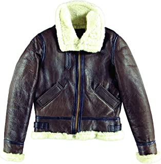 product image for Women's B-3 Brown Leather Bomber Jacket