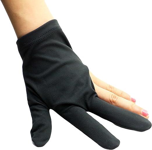 HUELE guantes para billar Shooters 3 dedos guante de billar Cuetec billar guante accesorio de piscina, pack de 6: Amazon.es: Hogar