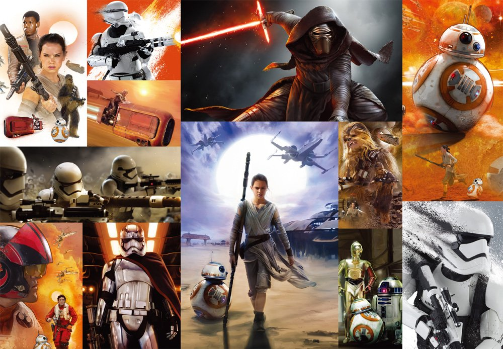500-piece jigsaw puzzle Stained Art Star Wars - Force of awakening - tight series (25x36cm)
