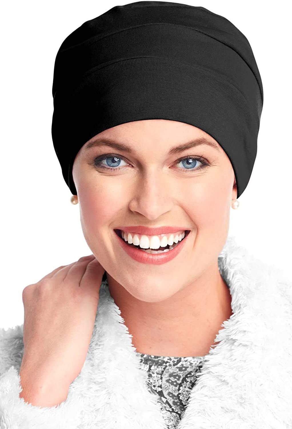 Headcovers Unlimited Three Seam Cotton Sleep Cap-Caps for Women with Chemo Cancer Hair Loss