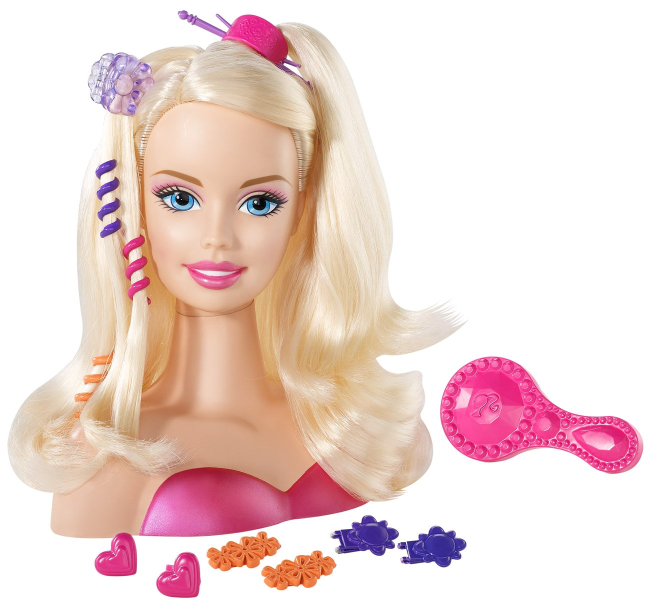 Amazoncom Barbie Blonde Styling Head Small Toys Games - Hairstyle barbie doll