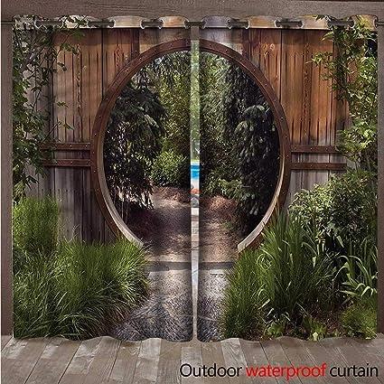 Amazon.com  cobeDecor Japanese Home Patio Outdoor Curtain