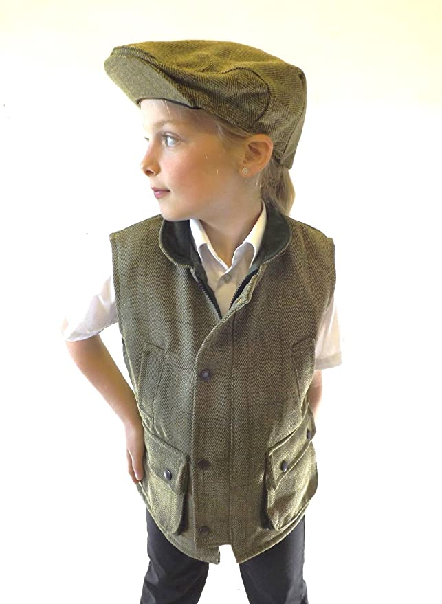 Vintage Style Children's Clothing: Girls, Boys, Baby, Toddler Brand New Kids Boys Girls Light Green Quality Tweed Waistcoat Riding Sports £39.00 AT vintagedancer.com