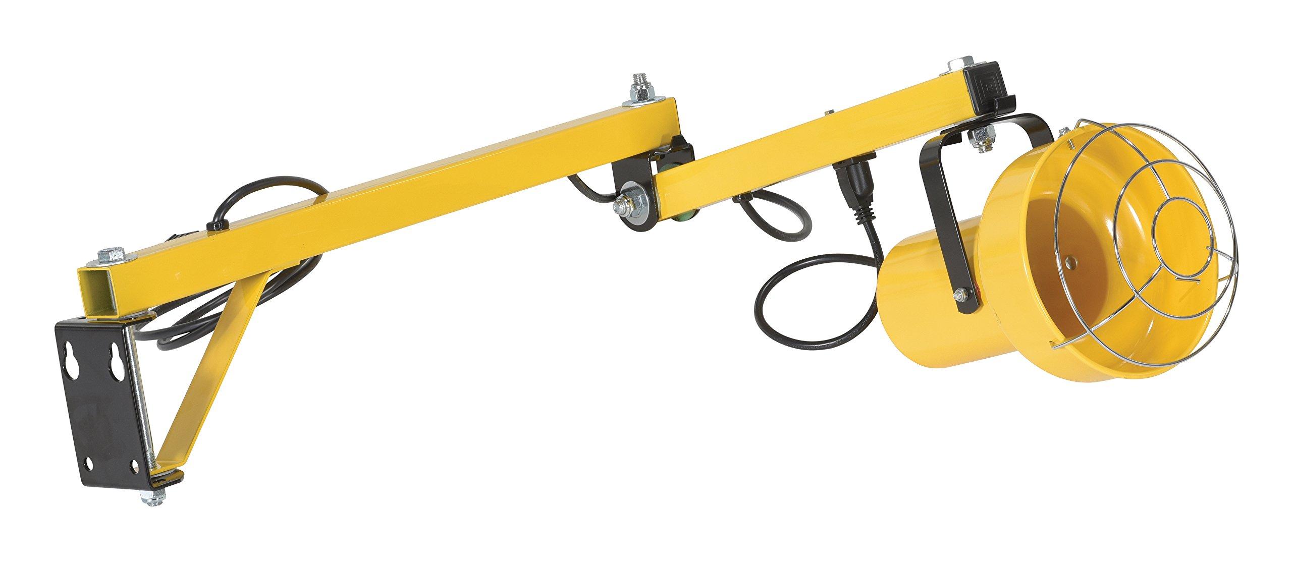 Vestil LL-40 Incandescent Dock Loading Light, Double Arm, Strut, 40'' Length by Vestil