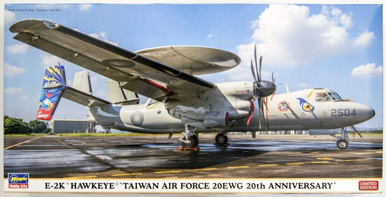 Plastic Model Building Kit # 02337 Hasegawa 1//72 Scale E-2K Hawkeye Taiwan Air Force 20EWG 20th Anniversary