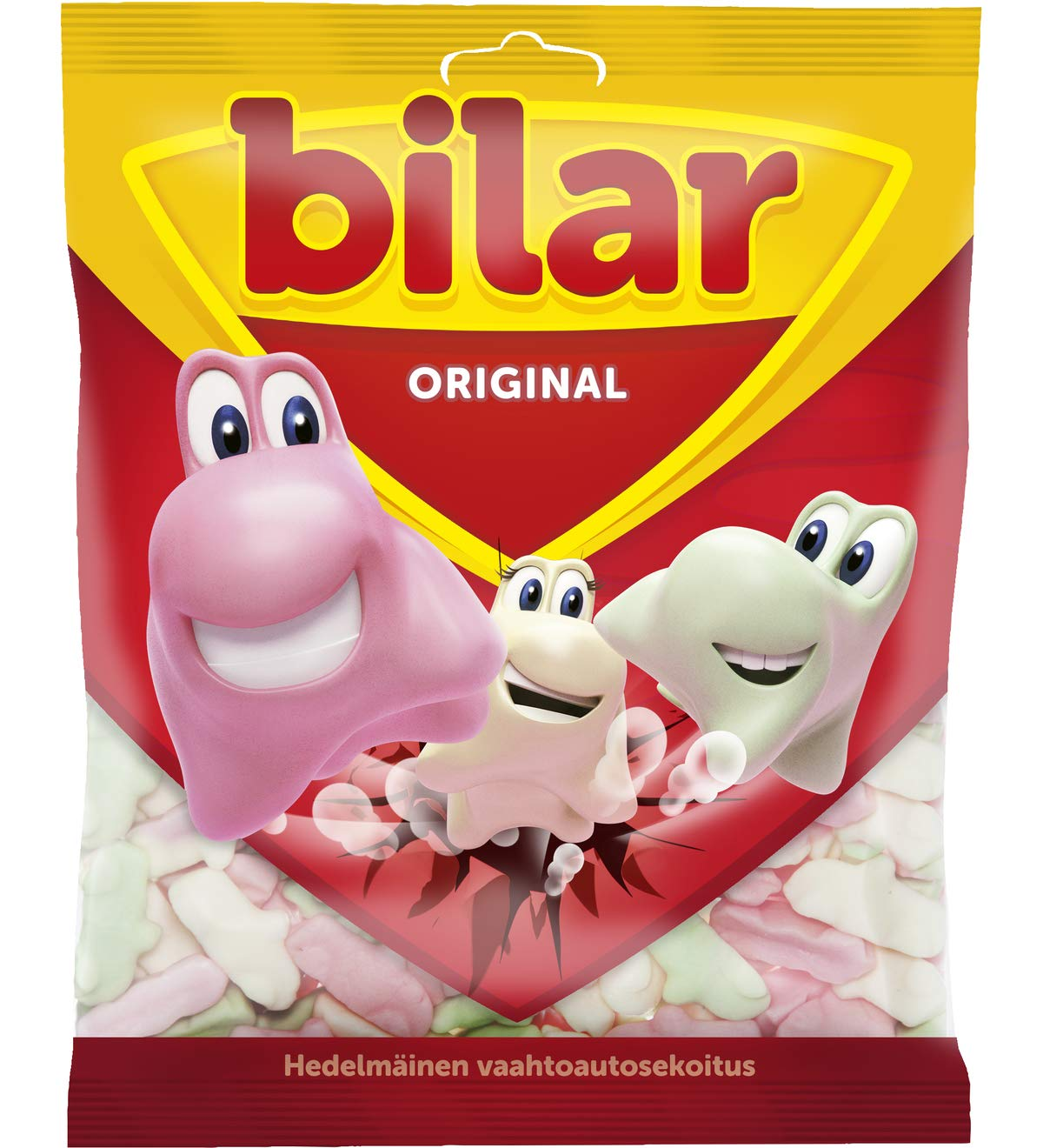 18 Bags x 125g of Ahlgrens Bilar Original - Swedish - Chewy Marshmallow Cars - Candies - Sweets - New Design! by Ahlgrens