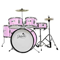 Tiger 5 Piece Junior Drum Kit - Jasmine Pink