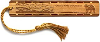 product image for Great Smoky Mountains Engraved Wooden Bookmark with Tassel - Also Available Personalized