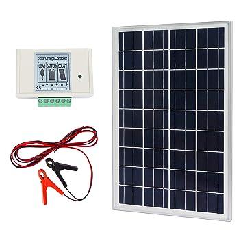Amazon.com : ECO-WORTHY 20W 12V IP65 Solar Panel Kit: 20W Off Grid on