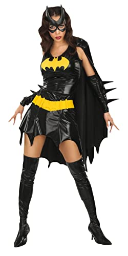 DC Comics Secret Wishes Sexy Deluxe Batgirl Adult Costume,Black,X-Small