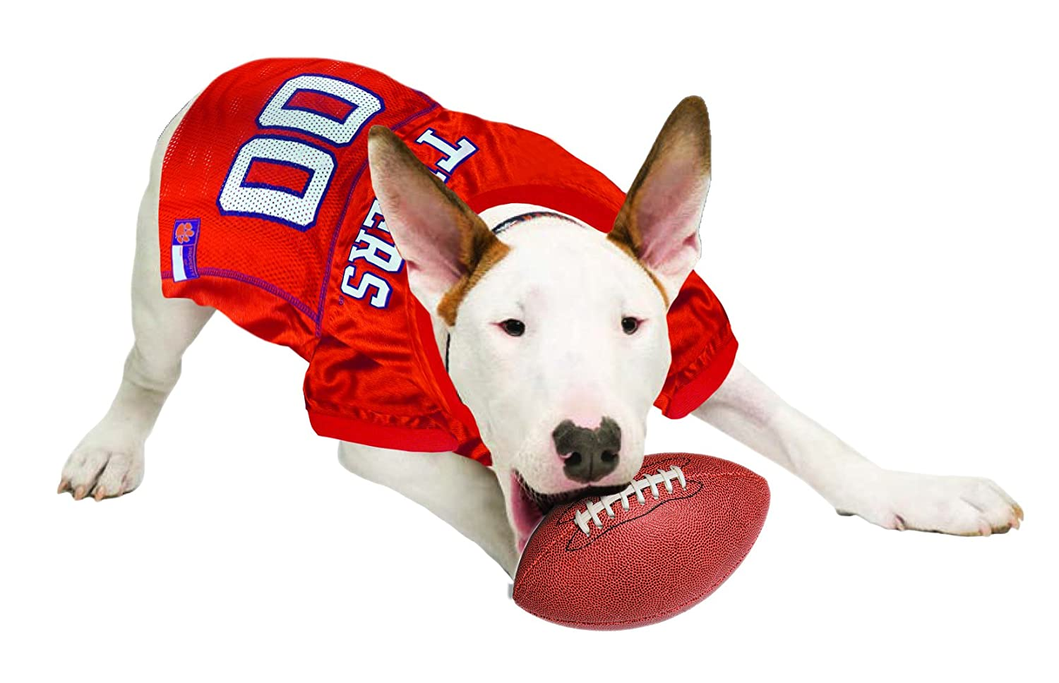 Collegiate Teams /& 7 Sizes Basketball Jerseys Pets First NCAA PET Apparels Football Jerseys for Dogs /& Cats Available in 50