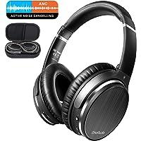 OneAudio Active Noise Cancelling Kopfhörer, Bluetooth Kopfhörer Over Ear, ANC Over Ear Headset mit Mikro, Geräuschunterdrückende Headphone für alle Geräte mit Bluetooth oder 3,5 mm Klinkenstecker