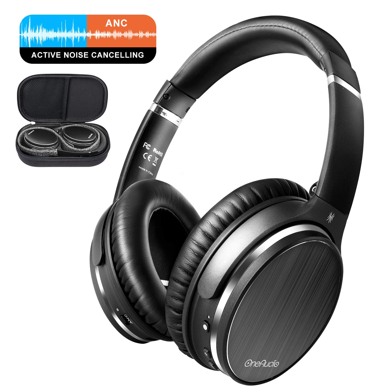 Bluetooth Bass Headphones, OneOdio 30 Hrs Play Time Stereo Wireless Headset Detachable Mic, Office Foldable Headsets 50mm Neodymium Drivers PC, TV, Cell Phones OneOdio USA