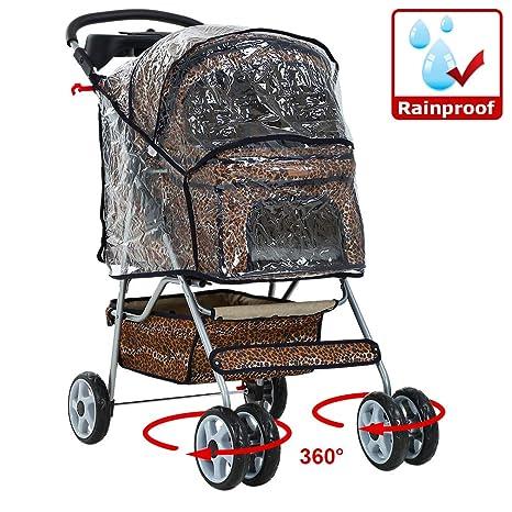 Carrito de 4ruedas para perro o gato/Protector de lluvia en todos los