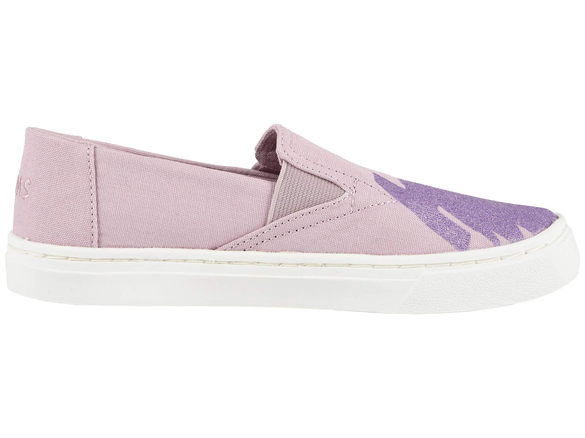 TOMS Youth Luca Slip-On Shoes, Size: 3.5 M US Big Kid, Color: Brnsh Lilac Glt Star by TOMS Kids (Image #8)