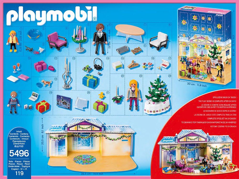 Playmobil Weihnachtsbaum.Playmobil 5496 Adventskalender Weihnachtsabend Mit Beleuchtetem Baum