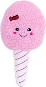 ZippyPaws - Squeakie Pattiez Stuffed Plush Dog Toy with Two Squeakers - Cotton Candy