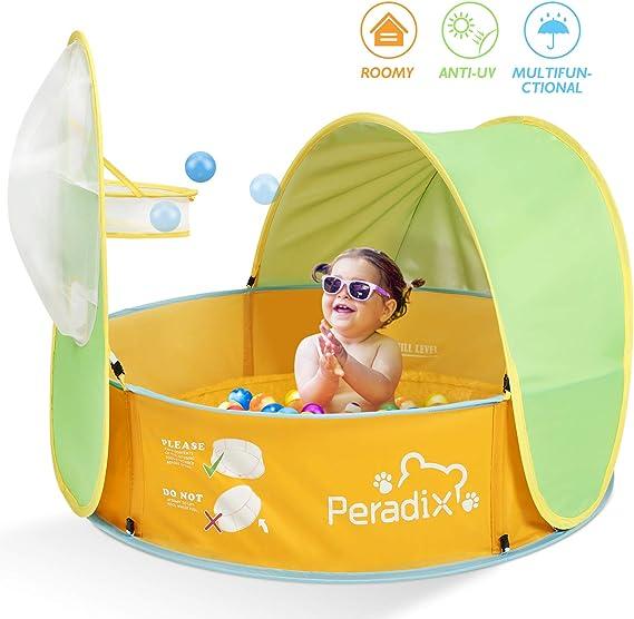 Peradix Tienda de Playa para Bebés Portátiles,2 en 1 Piscina de ...