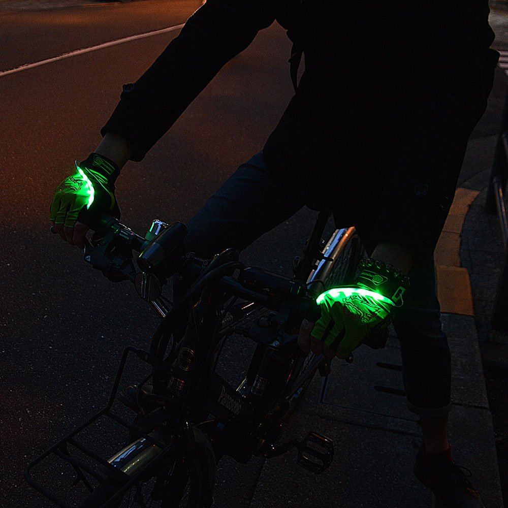 自転車用LEDグローブ
