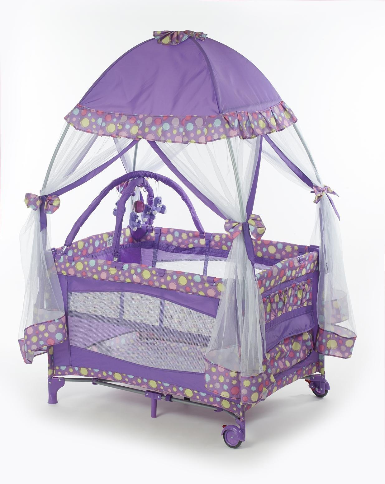 Big Oshi Playard With Mosquito Net & Cary Bag, Purple