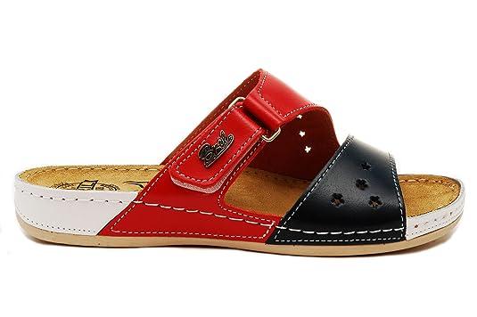 Bril Punto Zapatillas De Zapatos Cuero Dr Rosso Zuecos Sandalias Y71 pEn7dxw 279f307c683