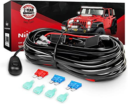 wiring harness kit for atv amazon com nilight wiring harness kit for led work light bar 12v  amazon com nilight wiring harness kit
