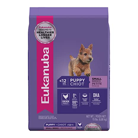 Eukanuba Puppy Food >> Amazon Com Eukanuba Small Breed Puppy Food 15 Lbs Pet Supplies