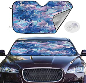 TableCoversHome Front Car Windshield Sun Shade Abstract UV Sun and Heat Reflector Artistic Expression, 28 x 50 Inch, Auto Parts