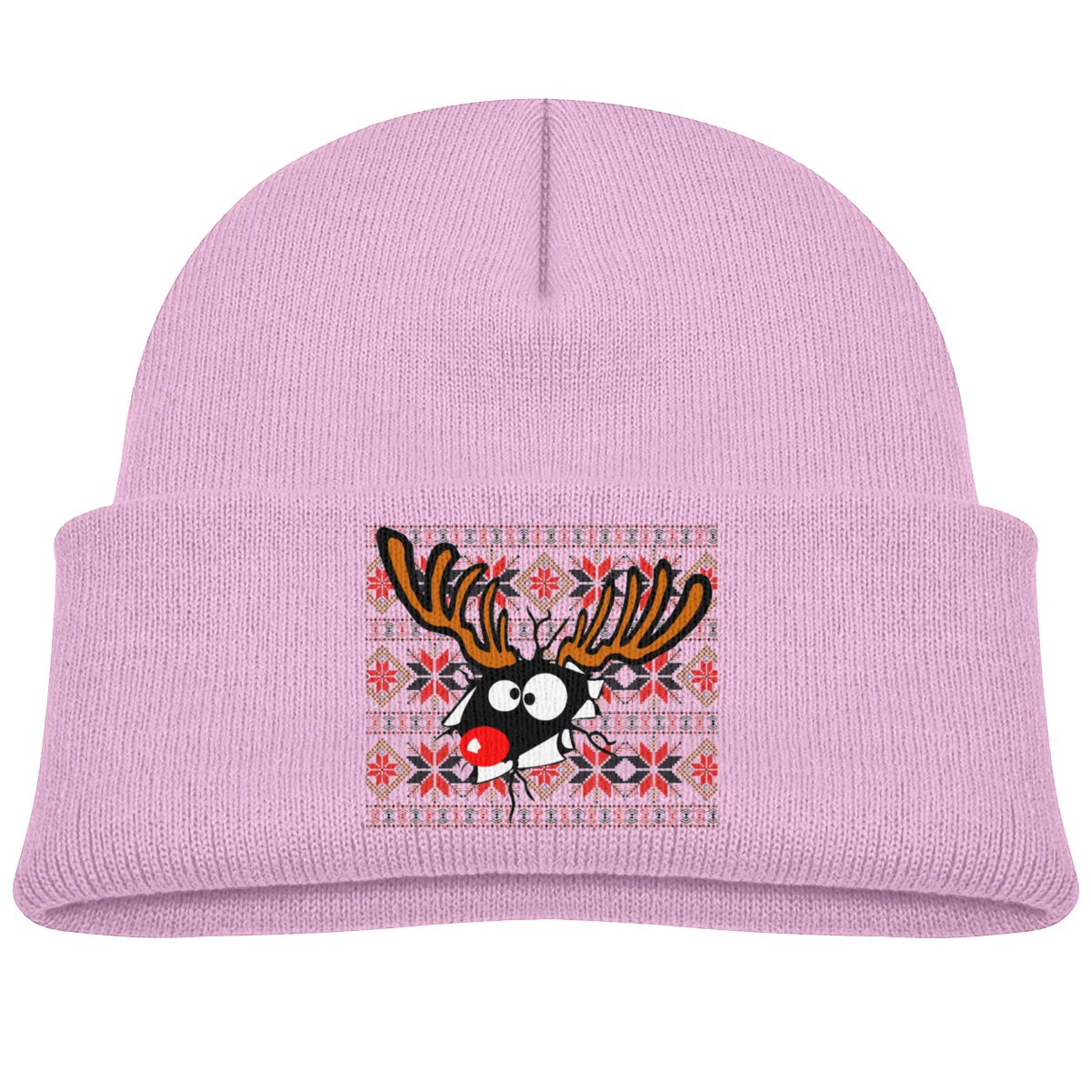 Hanfjj Kefdk Christmas Deer Infant Skull Hat Baby Girl Beanie Cap