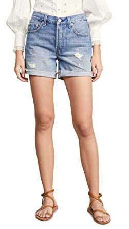 88e778ff Levi's Women's 501 Long Shorts at Amazon Women's Clothing store: