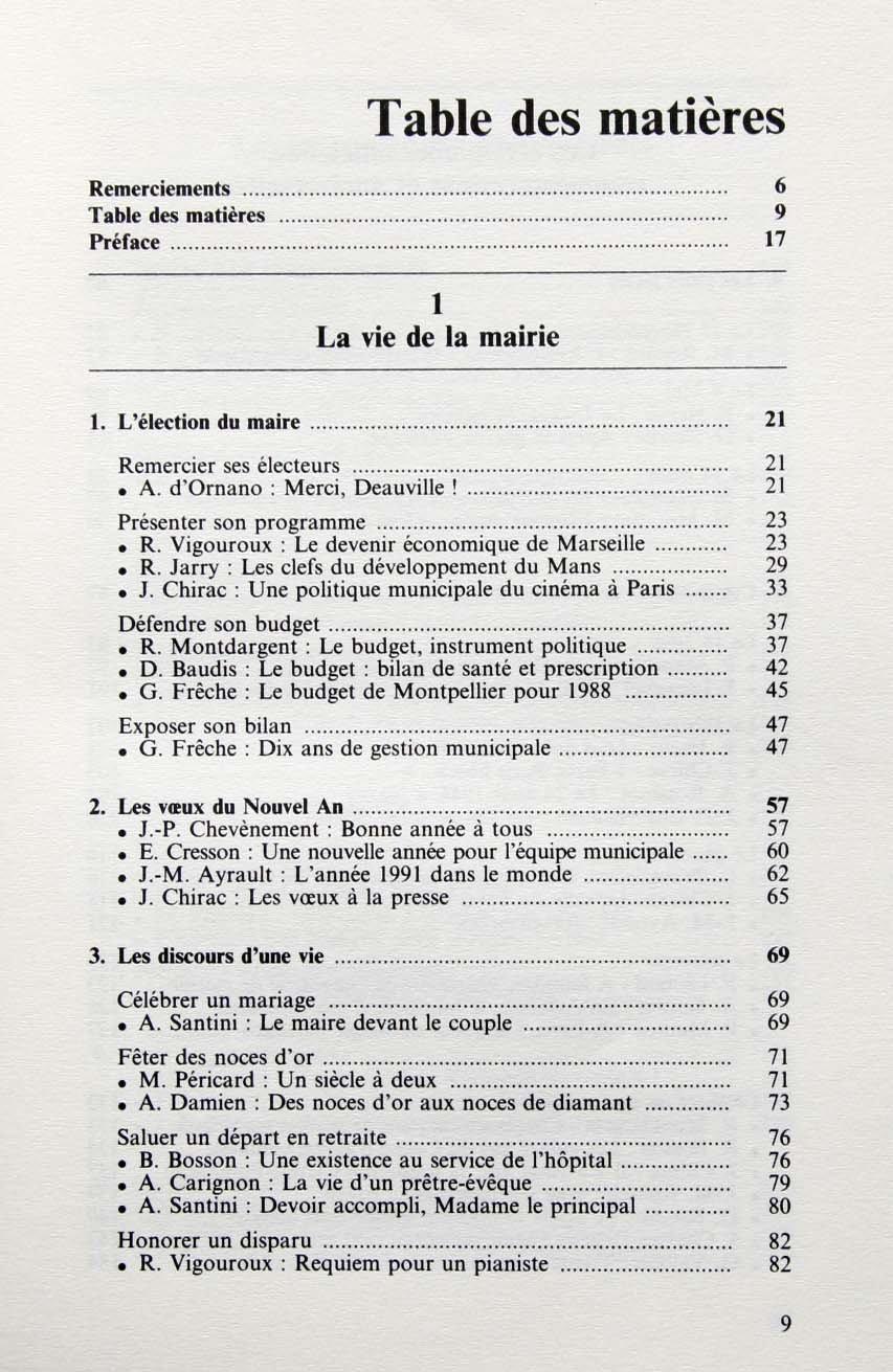Les Discours Du Maire 150 Discours De Personnalites Pour Les