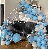 LEKANI 128 Pieces Balloon Garland Kit Balloon Arch Garland for Wedding Birthday Party Decorations ¡ (Blue)